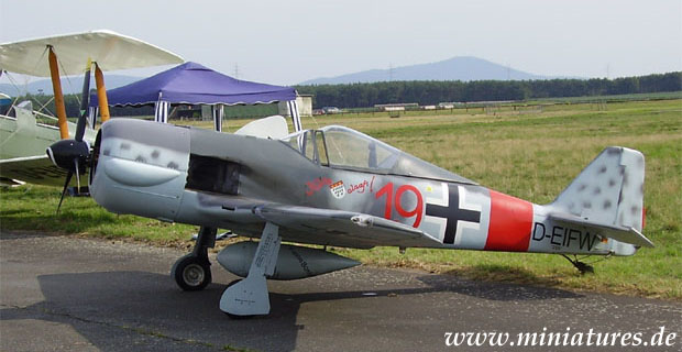 Focke-Wulf Fw 190 «Würger» fighter aircraft, reproduction in 1:2 scale