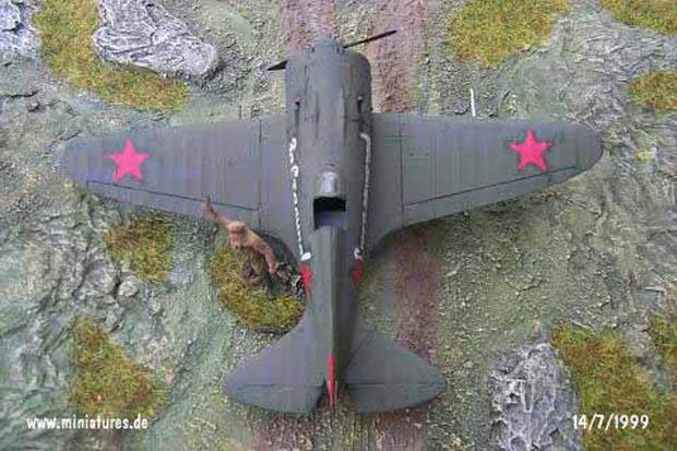 Avión de Caza Soviético Polikarpov I-16 Tipo 18 (Rata), 1:72 Maqueta Hasegawa AP27