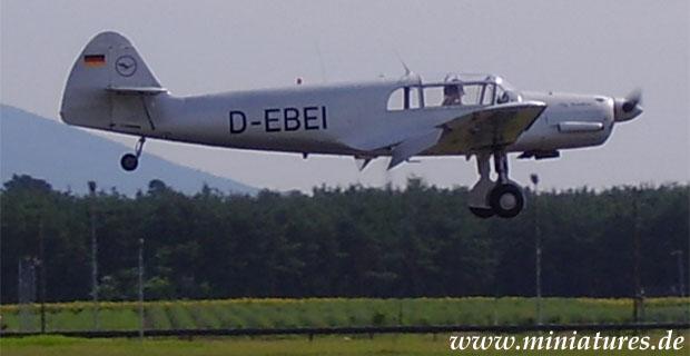 Aereo da collegamento e da addestramento Messerschmitt Bf 108 B Taifun, argento