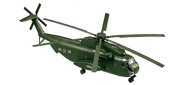Sikorsky CH-53 G helicopter of the German Bundeswehr, 1:87 Model Kit ROCO 1010