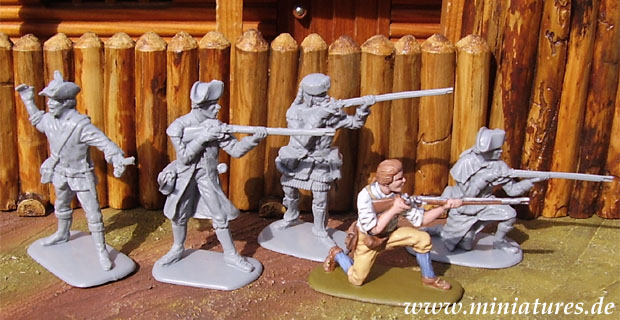American Militia (2), 1:32 Miniatures Accurate 3209
