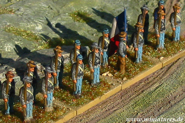 Confederate Infantry, 1861–1865, 1:76 Miniatures Airfix 01713
