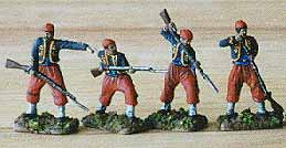 American Civil War Zouaves attacking, 1:72 HaT 8004