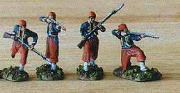 American Civil War Zouaves firing, 1:72 HäT 8004