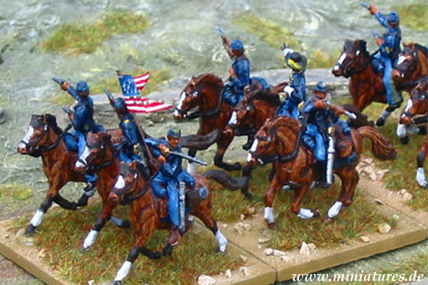 US Cavalry troopers and trumpeter, 1:72 Miniatures IMEX 503