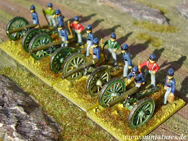 Union Artillery Miniatures of the American Civil War