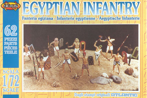 Ancient Egyptian Infantry, 1:72 Nexus Atlantic 1803