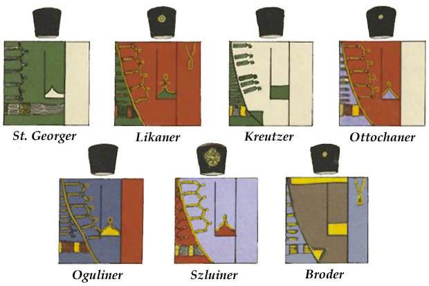 Uniformas de la Grenz-Infantería Austriaca de la Guerra de los Siete Años, 1756–1763