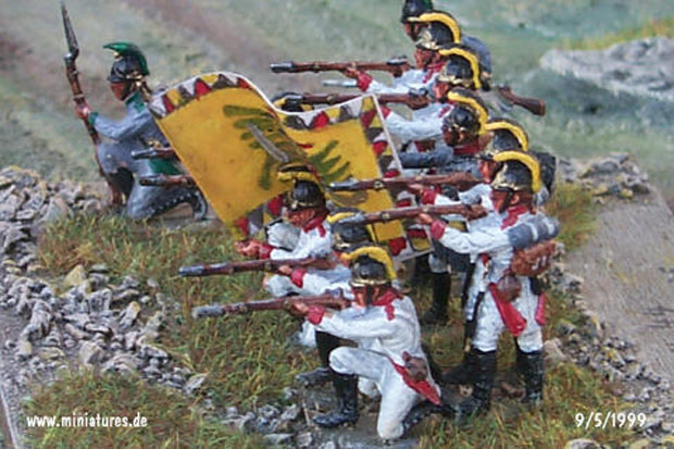 Austrian Infantry Regiment Bellegarde (Nr. 44), 1:72 Figuras ESCI