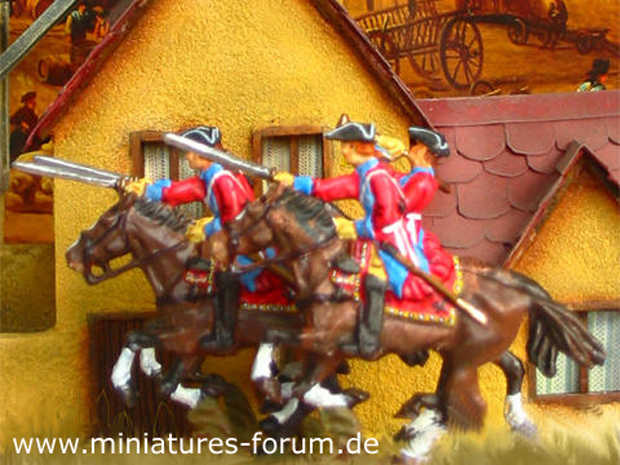 Austrian Dragoon Regiment Sachsen-Gotha, 40 mm Figuras Prinz August