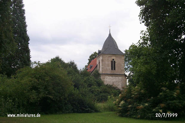 Hastenbeck church seen from the château