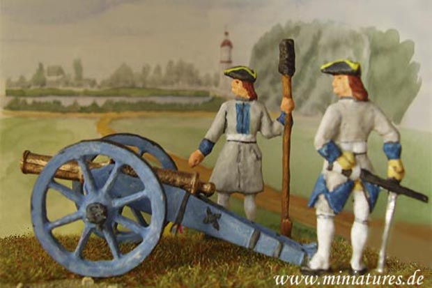 Bavarian artillery with battalion gun
