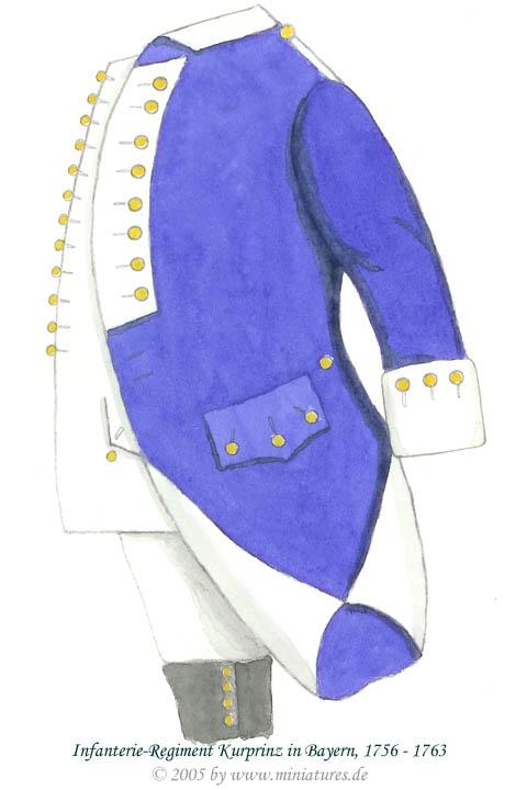 Reggimento Fanteria Bavarese Principe Ereditario in Baviera, 1756–1763