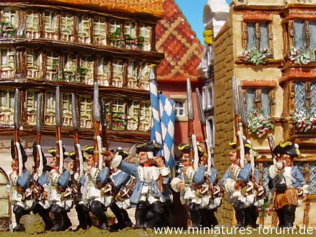 Bavarian Infantry Regiment Kurprinz in Bayern, 15 mm Figuras Old Glory