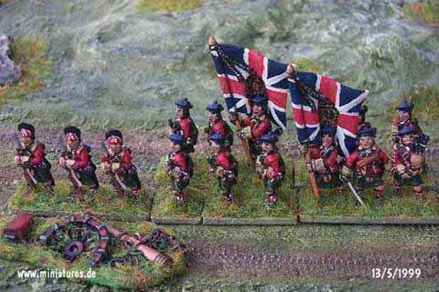 British 42nd Highland Regiment, 15 mm Figuras Essex