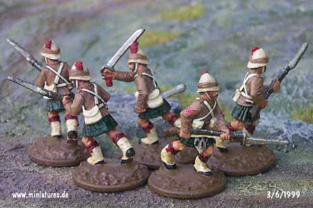 British 42nd Highland Regiment, 25 mm Figuras Ral Partha 88-108 & 88-109
