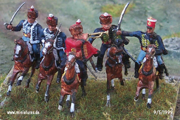 British 6th Cavalry Brigade, 10th &18th Hussars, 1st KGL Hussars, 1:76 Figuras Airfix 01743