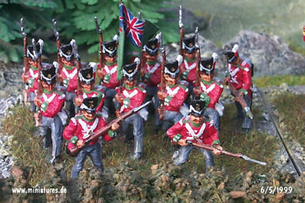 British 69th (South Lincolnshire) Regiment, 1:76 Figuras Airfix 01745
