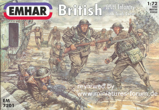 British Infantry and Tank Crew, Great War 1916-1918, 1:72 EMHAR 7201