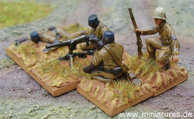 King's African Rifles Machine Gun Team