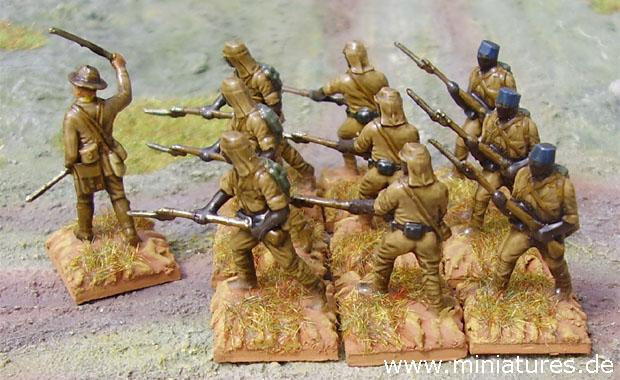 King's African Rifles, 1914–1918, 1:76 Matchbox Miniatures Conversions