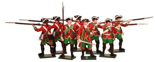 British 51st Regiment of Foot, Seven Years' War, 1757–1763, 54 mm Tradition Miniatures 600SE6