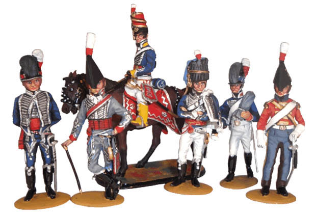 British Napoleonic Cavalry, 54 mm Miniatures Tradition of London