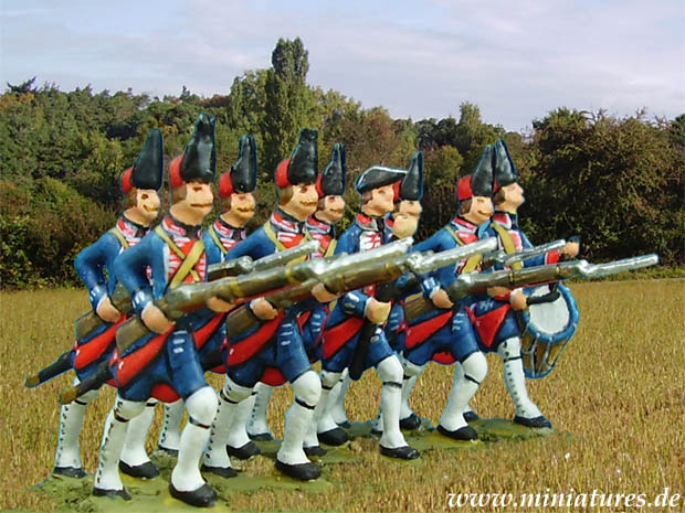French Infantry Regiments of the Seven Years' War, 1756–1763, 40 mm Miniatures Prince August