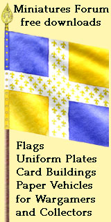 Miniatures Forum offers free downloads of flags, uniform plates, and other accessories