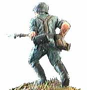 German soldier, attacking