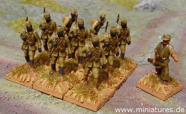Askari della Schutztruppe in Africa Orientale Tedesca, 1914–1918, Conversione 1:76 Soldatini Airfix