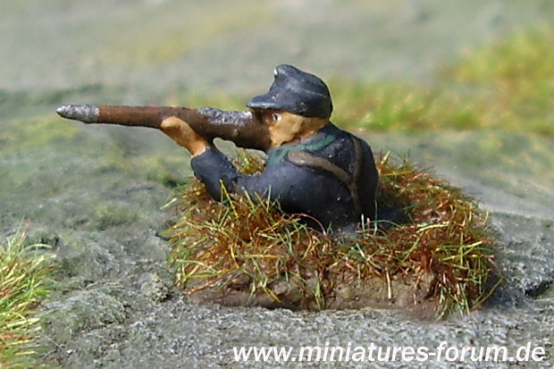 German Soldier in rifle pit