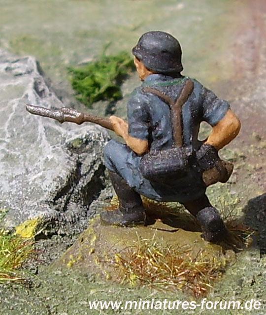 German soldier, kneeling