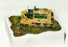 Airfix Panzerjäger Bren conversion painted RAL 7028 Dunkelgelb with RAL 8017 Schokoladenbraun disruptive stripes