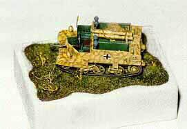 Airfix Panzerjäger Bren conversion painted RAL 7028 Dunkelgelb con RAL 8017 Schokoladenbraun disruptive stripes