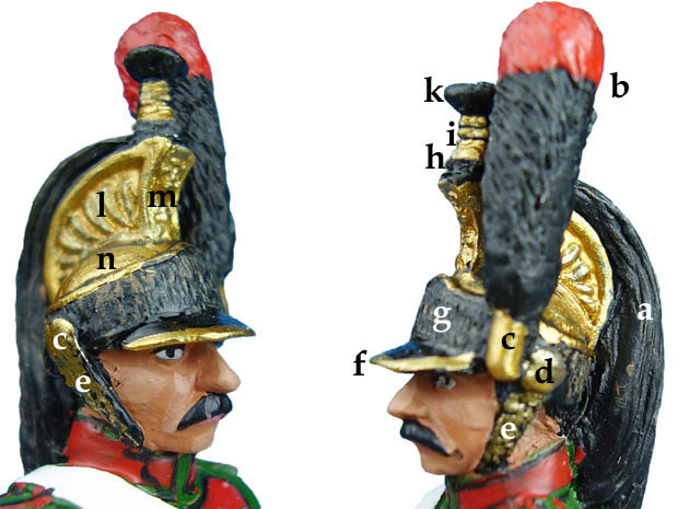 Crested Helmet with Horsehair Tail, 1:30 Miniature del Prado