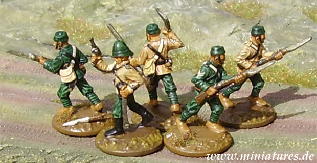 5th Gurkha (Rifle) Regiment, 25 mm Miniatures Ral Partha 88-110