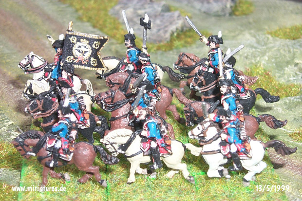 Prussian Dragoon Regiment Nr. 5 von Bayreuth, 15 mm Figuras Old Glory