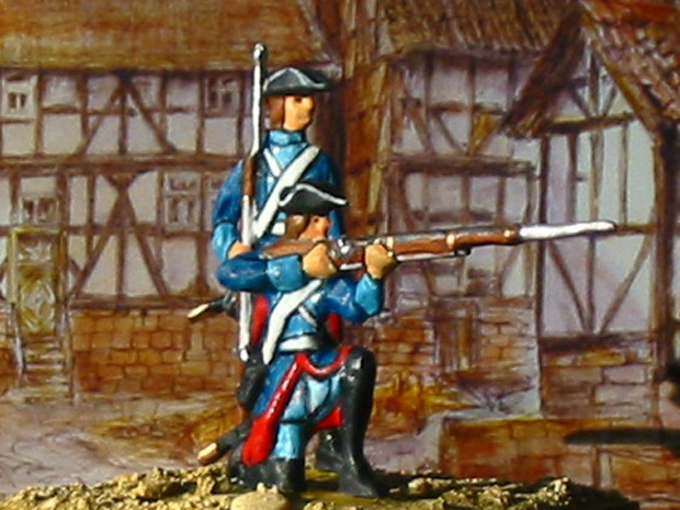 Prussian Frei-Bataillon Le Noble (F1), 40 mm Figuras Prinz August