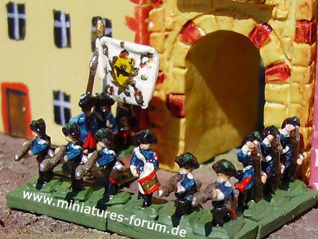 Reggimento Fanteria di Guarnigione Prussiano von Sydow (Nr. II), 5 mm Soldatini Heroics & Ros