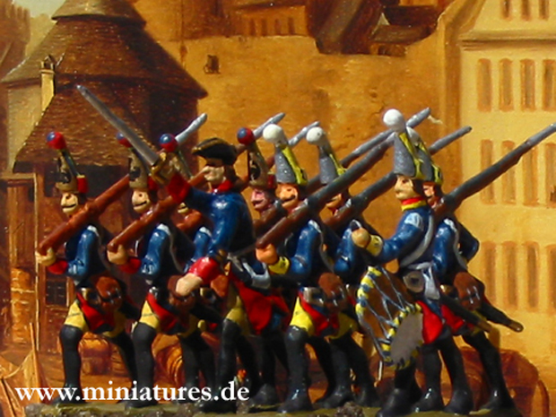 Prussian Grenadier Battalion von Waldow (12/39), 40 mm Figuras Prinz August