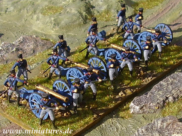 Prussian Napoleonic Foot Artillery, 1814–1815, 1:72 Miniatures HaT Industrie 8007