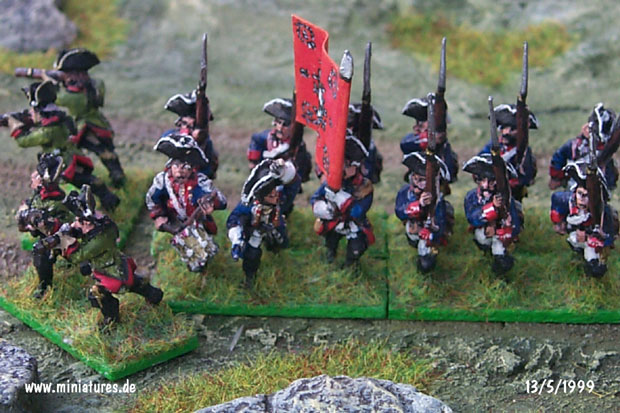 Prussian Infantry Regiment von Winterfeldt (Nr. 1), 15 mm Figuras Old Glory