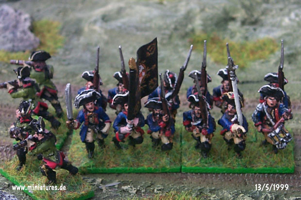 Prussian Infantry Regiment von Kanitz (Nr. 2), 15 mm Figuras Old Glory