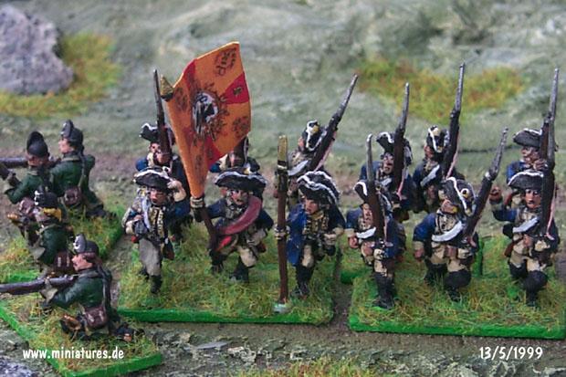 Reggimento Fanteria Herzog Ferdinand von Braunschweig (Nr. 5), 15 mm Soldatini di Stagno Old Glory