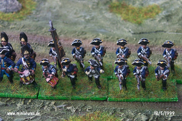 Prussian Infantry Regiment von Itzenplitz (Nr. 13), 15 mm Figuras Old Glory