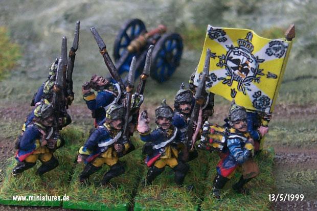 Reggimento Fanteria Prinz Friedrich Franz von Braunschweig (Nr. 39), 15 mm Soldatini di Stagno Old Glory