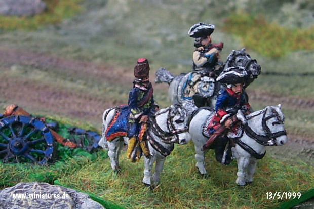 Frederick the Great Prussia, 15 mm Figuras Old Glory