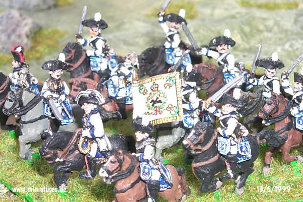 Prussian Cuirassier Regiment von Katte (K3), 15 mm Figuras Old Glory