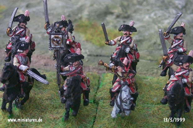Prussian Cuirassier Regiment Garde du Corps (K13), 15 mm Figuras Old Glory